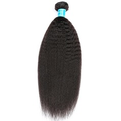5A Virgin/remy Kinky Straight Human Hair Human Hair Weave (Sold in a single piece) 100g