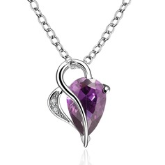 Sweet Heart Copper/Zircon Ladies' Necklaces