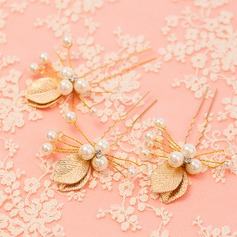 Glamourous Gold Plated Hairpins (Set of 6)