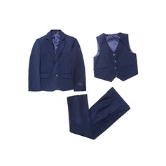 Boys 3 Pieces Solid Ring Bearer Suits /Page Boy Suits With Jacket Vest Pants (287198590)