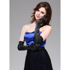Elastic Satin Opera Length Party/Fashion Gloves (014042520)