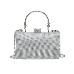 Gorgeous/Fashionable/Shining/Bright Crystal/ Rhinestone/Metal Evening Bags (012234822)