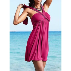 Beautiful Solid Color Beach dress (202121577)