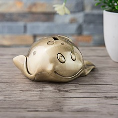 Gold Devil Fish Piggy Bank Birthday Gift Wedding Gift