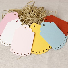 100pcs Lace Porous Blank Colorful Tags