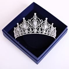 Ladies Elegant Zircon Tiaras (Sold in single piece)
