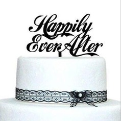 Letter Acrylic Wedding Cake Topper