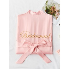 Charmeuse Bridesmaid Embroidered Robes (248203058)