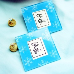 Snowflake Glass Photo Coasters (set of 2pcs)