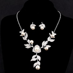 Beautiful Alloy/Imitation Pearls With Austrian Crystal Jewelry Sets