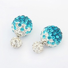 Beautiful Alloy Rhinestones Ladies' Fashion Earrings