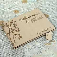 Personalized design Wood Guestbook (101198160)