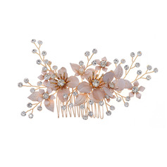 Ladies Beautiful Rhinestone/Imitation Pearls Combs & Barrettes With Rhinestone (Sold in single piece) (042253789)