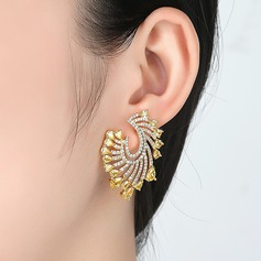 Fashional Alloy/Zircon Ladies' Earrings