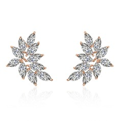 Ladies' Shining Copper/Zircon Earrings For Bride/For Bridesmaid/For Mother