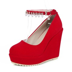 Women's Suede Wedge Heel Platform Wedges shoes