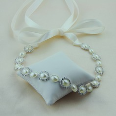 Ladies Unique Satin Headbands With Venetian Pearl (Sold in single piece)