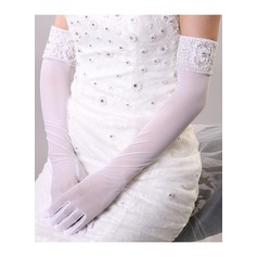Nylon Opera Length Bridal Gloves (014118031)