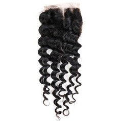 "4""*4"" 4A Non remy Deep Human Hair Closure (Sold in a single piece) 30g"