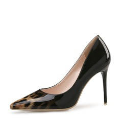 Women's Patent Leather Stiletto Heel Pumps Closed Toe With Others shoes (085131792)