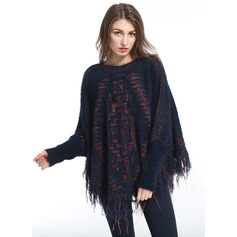 Oversized/fashion/simple Artificial Wool Poncho