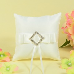 Luxury Ring Pillow With Sash/Rhinestones