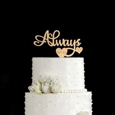 Personalized Monogram Wood Cake Topper