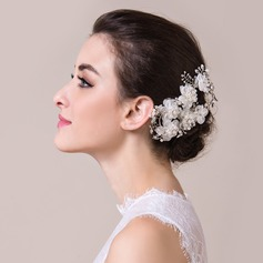 Stylish Rock Crystal Quartz/Artificial Silk Headbands