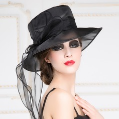 Ladies' Eye-catching Organza Bowler/Cloche Hat