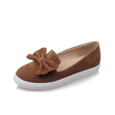 Women's Leatherette Flat Heel Flats Closed Toe With Bowknot shoes (086094920)