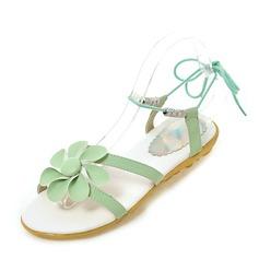 Kvinner Lær Flat Hæl Sandaler Flate sko med Blomst sko