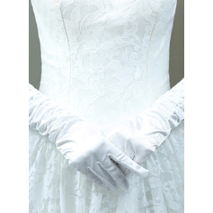 Cotton Elbow Length Bridal Gloves With Embroidery (014225731)
