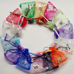Butterfly Theme Favor Bags With Ribbons