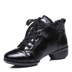 Women's Real Leather Sneakers Modern Sneakers Ballroom Dance Shoes