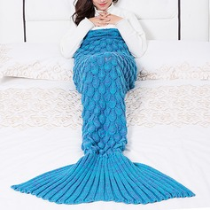 Warmth Yarn Knitted Throw Bed Mermaid Blanket,195*95 (Sold in a single)