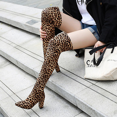 Suede Chunky Heel Flats Wedges Mid-Calf Boots Riding Boots shoes (088217955)