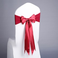 Simple Colorful Satin Chair Ribbon Sash  (131186080)