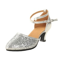 Women's Leatherette Sparkling Glitter Heels Ballroom Dance Shoes