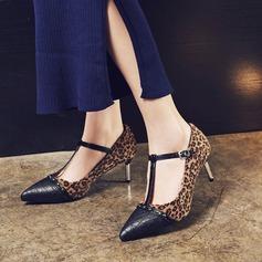 Donna Similpelle Tacco a spillo Stiletto Punta chiusa con Fibbia scarpe