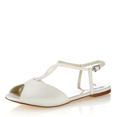 Mulheres Plástico Sem salto Peep toe Sapatos abertos