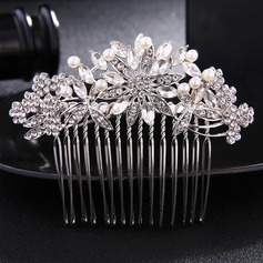 Ladies Simple Rhinestone/Alloy Combs & Barrettes
