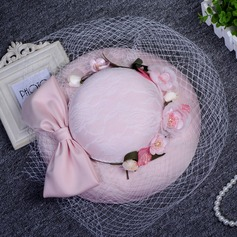 Ladies' Beautiful Cotton With Silk Flower Fascinators