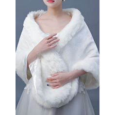 Faux Fur Wedding Shawl (013220610)