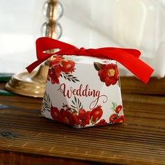 Forever Love Other Card Paper Favor Boxes With Flowers