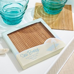 Natural Bamboo Eco-Friendly Coaster Favors (set of 4pcs)
