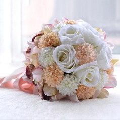 Gorgeous Round Artificial Silk Bridal Bouquets