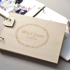Personalized design Wood Guestbook (101188105)