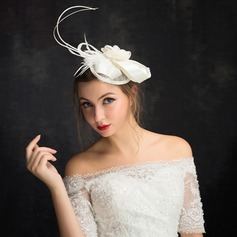 Ladies' Beautiful Feather/Net Yarn/Lace/Tulle With Feather Fascinators/Kentucky Derby Hats/Tea Party Hats