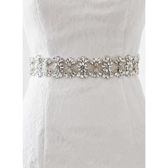 Nice Satin Sash With Rhinestones (015080760)