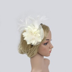 Ladies' Classic Feather/Net Yarn Fascinators